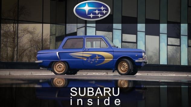 Старенький «Запорожец» снабдили оппозитным двигателем от Subaru